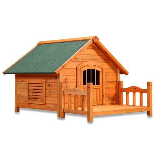 Brand name new porch pups dog house large home hut cute for Large dog house with porch