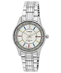 Casio Enticer Analog Silver Dial Womens Watch - LTP-1358D-7AVDF (A806)