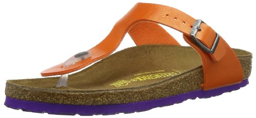 Birkenstock Womens Gizeh Bflor Thong Sandals 345111 Orange Graceful Sole Purple 6 UK, 39 EU, Regular