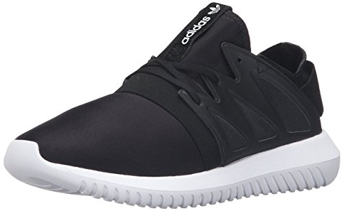 Adidas Originals Women's Tubular Viral W Fashion Sneaker, Black/Black/White, 7 M US