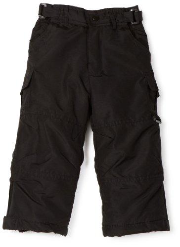 Rothschild Girls 2-6X Toddler Snow Pant, Black, 2T (Small)