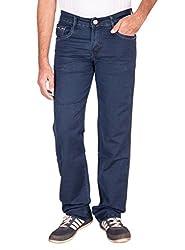 Fame Denim Lycra Regular Fit Casual Man's Dark Green Jeans