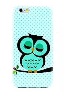 For iPhone 6 Case,Let it be Free Owl Dots TPU Gel Silicone Soft Case Cover Skin For Apple iPhone 6 4.7 inch