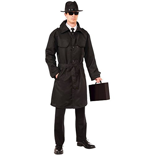 Secret Agent Spy Trench Coat Adult Costume - Standard