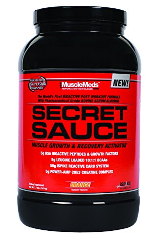 MuscleMeds Secret Sauce Post-Workout Muscle Growth and Recovery Activator, Orange, 3.1 Pound (Secret Sauce Orange compare prices)