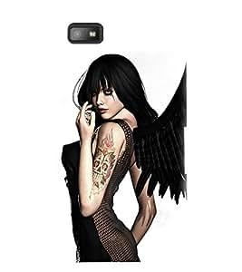 PrintVisa Hot & Sexy Angel Girl 3D Hard Polycarbonate Designer Back Case Cover for Blackberry Z10