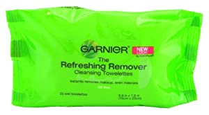 Garnier Refreshing Remover Cleansing Towelettes - 25 Wet Towelettes (Pack of 2)