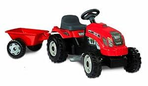 Tractor Gm Rojo Con Remolque (Smoby 33045)