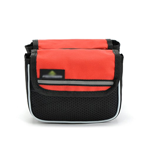Review DREAMY Shockproof Mountain Bike Road Bicycle Bag Cycling Front Frame Bag Unique Tube Pannier ...