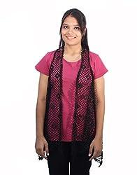 Romano Women's Trendy Black Shrug Top