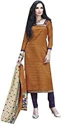Creative Collection Cotton Silk Blend Printed Salwar Suit Dupatta Material (Un-stitched)