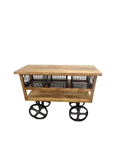 Moti Napa Wheel Trolley, Brown