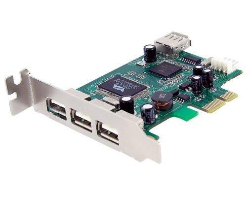 StarTech.com PEXUSB4DP 4 Port PCI Express Low Profile High Speed USB Card