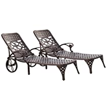 Hot Sale Home Styles Biscayne Chaise Lounge Chair, Bronze