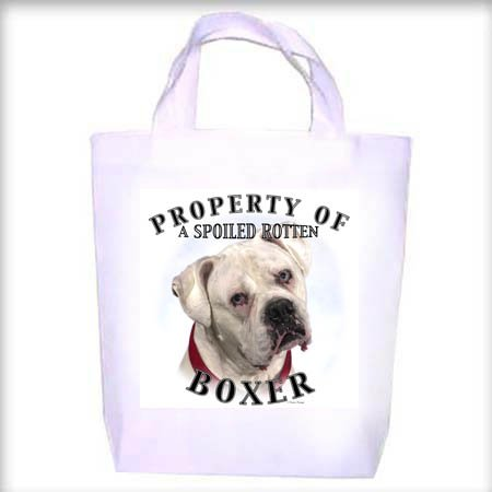 Boxer White Property Shopping - Dog Toy - Tote Bag