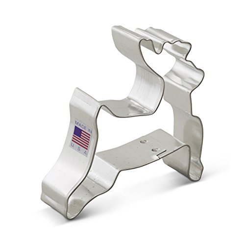 Ann Clark Reindeer Cookie Cutter - 3.5 Inches - Tin Plated Steel (Deer Cutter compare prices)