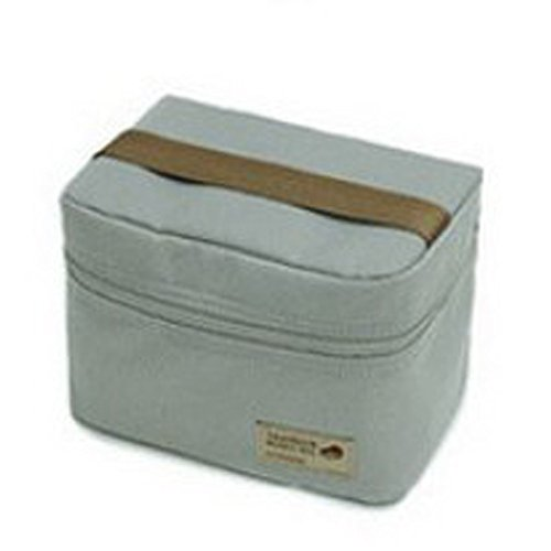 Outdoor Portable Thermal Insulation Handbag Lunch Box Bento Bag Tote for Excursions Travel Camping (gray) (31 Rolling Thermal compare prices)
