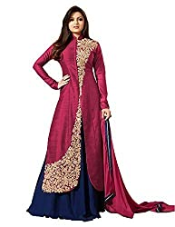 Pal Export Women's Georgette Semi Stitched Dress Material (Pack of 7) (BL-Pastel_Dark Pink_Free Size)