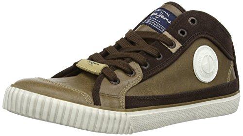Pepe Jeans Industry Pu Herren Sneaker, Braun (Mud), 39.5 EU