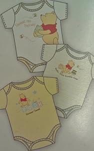 Disney Winnie the Pooh Infant 3 Pack Onesies - Neutral (0-3M)