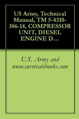 U.S. Army and www.survivalebooks.com - US Army, Technical Manual, TM 5-4310-386-14, COMPRESSOR UNIT, DIESEL ENGINE DRIVEN 20 CFM, 3200 P MODEL K-20-D, (NSN 4310-01-227-1408), military manauals, special forces (English Edition)
