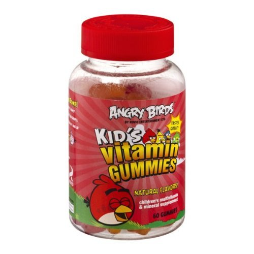 Natrol Angry Birds Vitamin Gummies, 60 Count (Pack Of 4)
