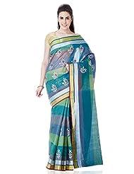 IndusDiva Dupion Silk Benarasi Saree With Blouse Piece