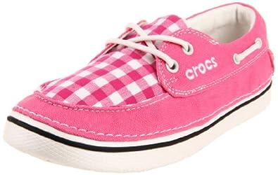21c80f693c1 史低)crocs Women s Hover Gingham Boat Shoe 卡洛驰女士粉色船