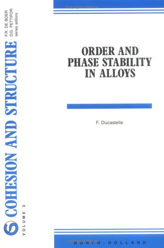 Order And Phase Stability In Alloys, Volume 3 (Cohesion And Structure)