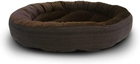 American Kennel Club Casablanca Solid Round Bed for Pets, Dark Brown