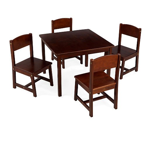 Best Prices KidKraft Farmhouse Table and Chair Set Pecan Kids Furnitur