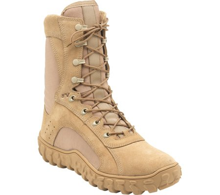 Mens ROCKY 8  Casual Lace Up S2V Work Boots TAN (Size Run 4 - 17 M / N / W / EW) SPR-SUM FAL-WIN