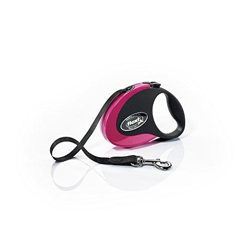 flexi-roll-leine-collection-s-gurt-3-m-schwarz-pink-fur-hunde-bis-max-12-kg