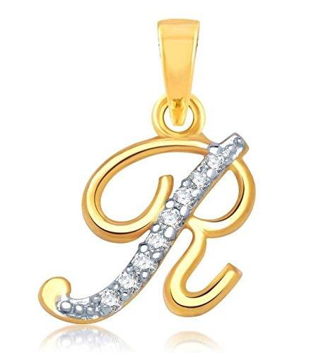 Youbella American Diamond Gold And Rhodium Plated Pendant For Boys/Girls/Men/Women