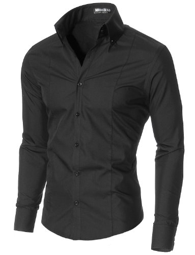 MODERNO Super Slim Fit Business Herren Hemd (MSSF501)