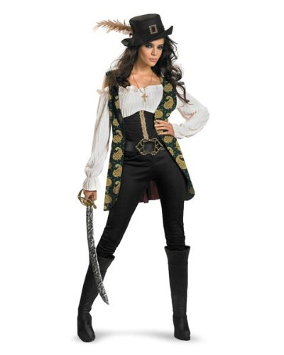 Womens Deluxe Pirates of the Caribbean Angelica Costume Size Medium
