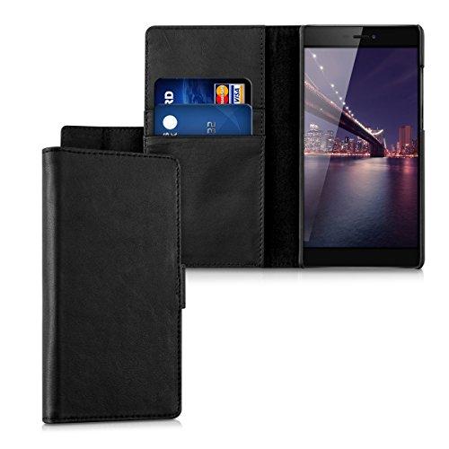 kalibri-Leder-Hlle-James-fr-Huawei-P8-Echtleder-Schutzhlle-Wallet-Case-Style-mit-Karten-Fchern-in-Schwarz