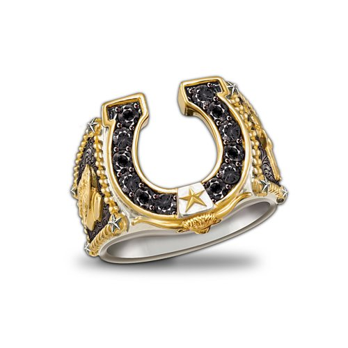 Horseshoe Western Style Ring: Spirit Of The West by The Bradford Exchange