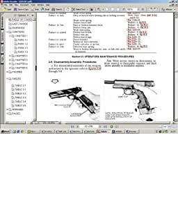 U.S. Army M1911A1.45 Cal Caliber Military Automatic Pistol: Operation, Maintenance, Repair, and Parts Manual on CD-ROM