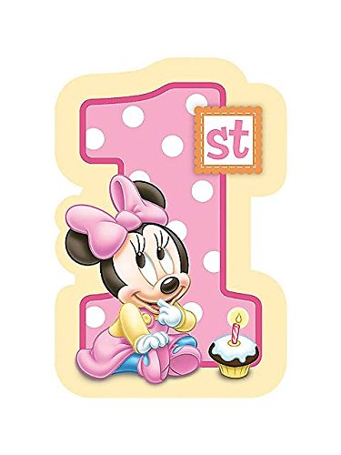 Best Deals! Baby Minnie Mouse 1st Birthday Invitations 8 Pkg Disney Invites Party