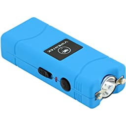 VIPERTEK VTS-881 - 28,000,000 V Micro Stun Gun - Rechargeable with LED Flashlight (Blue)