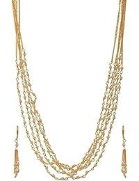 Jewelstone Brass Gold Plated Multi-Strand Chain For Women - B01FM9SRA8