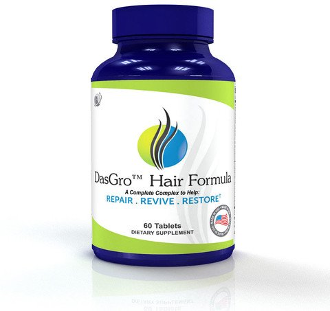 Dasgro Hair Formula: All-Natural Hair Growth Vitamins, Repairs Hair Follicles, Helps Stop Hair Loss, Stimulates New Hair Growth, Promotes Thicker, Fuller And Faster Growing Hair! (30 Day Supply)
