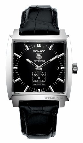 TAG Heuer Men's WW2110.FC6177 Monaco Automatic Leather Strap Watch
