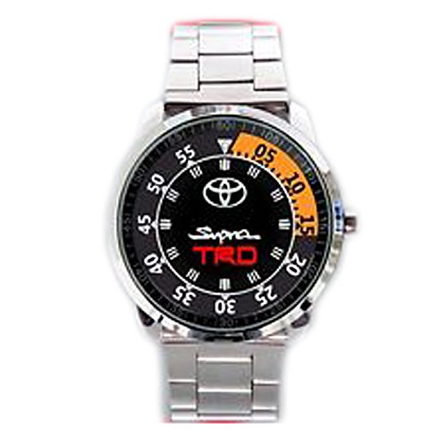 Paper Priinted Wrist Watches XWDS455 New Limited Edition Toyota Supra TRD Mk3 Emblem Logo Sport Metal Watch (Japanese Toyota Emblem compare prices)