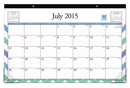 July 2015 June 2016 Elston Desk Pad Calendar 17x11