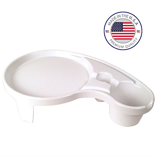 MADE IN THE USA - The Party Pal, White - Napkin, Utensil, Plate, Drink Holder & Tray - Stackable Serving Platter & Breakfast Table for 1 - Indoor & Outdoor Kitchen Accessory Sold by Arron Kelly (Camper Plate Holder compare prices)