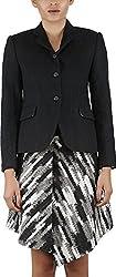 Baba Rancho Women's Regular Fit Coat (C 00200_S, Black, S)
