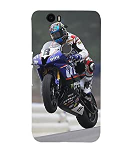 Vizagbeats Bike Racing Back Case Cover for Huawei Google Nexus 6P