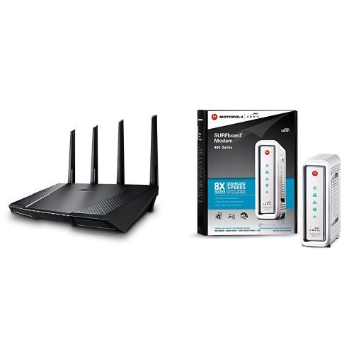 ASUS AC2400 Wireless Router (RT-AC87U) and Arris Surfboard Cable Modem (SB6141) Bundle image